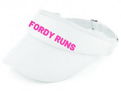 FORDY RUNS VISOR WHITE
