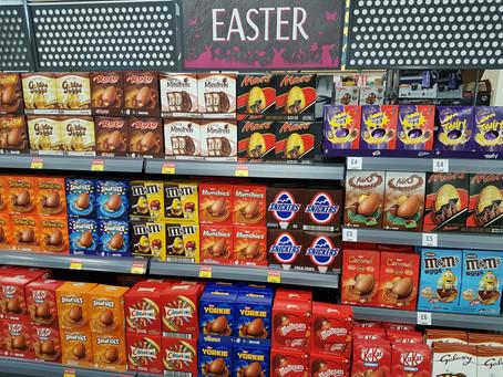 January 2019, Easter eggs on the shelves
