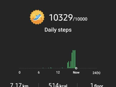 Unintentional 10k steps