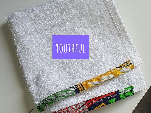 Face cloth  - Regular absorbance, ankara trimmed