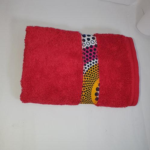 Hand towel - Extra absorbant, hand made ankara trimmed