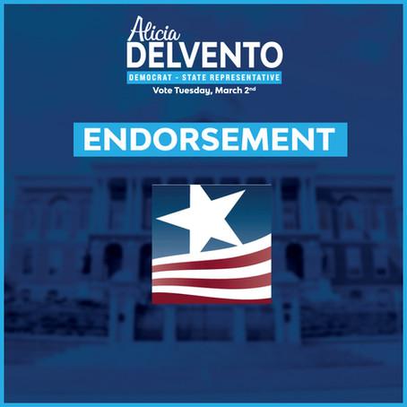 Massachusetts Women's Political Caucus Endorses Alicia DelVento