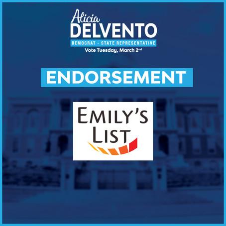 EMILY's List Endorses Alicia DelVento in Massachusetts Special Election