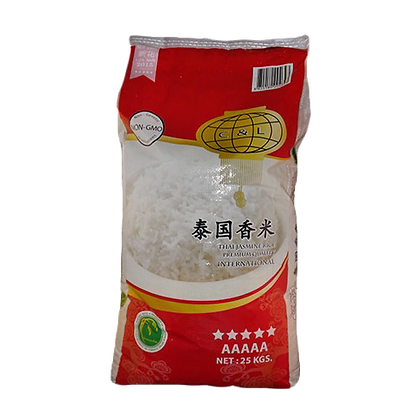 Thai Jasmine Rice Premium 25KG C&L