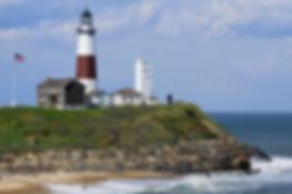 Montauk lighthouse on the Atlantic Ocean