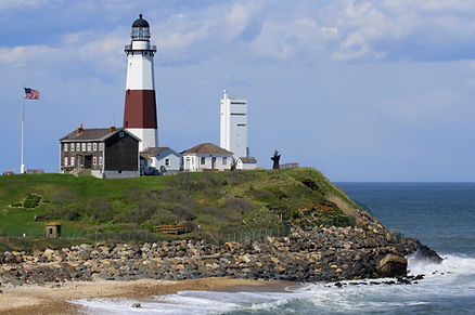 Montauk lighthouse on the Atlantic Ocean