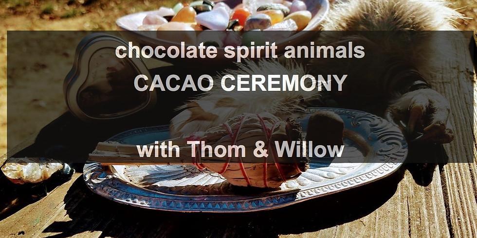 chocolate spirit animals - Cacao Ceremony