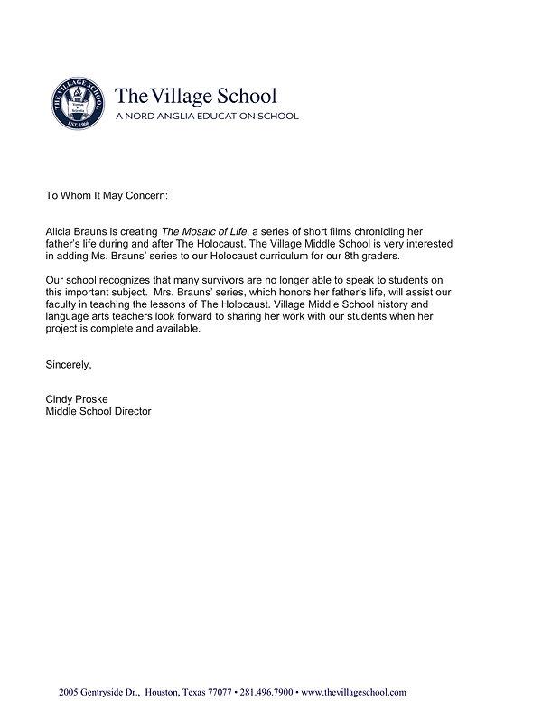 Vilage School Letter.jpg