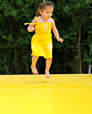 yellow jumbo jumper air pillow dress girl