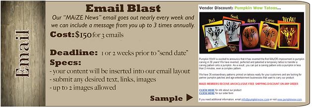 email blast a la carte advertising