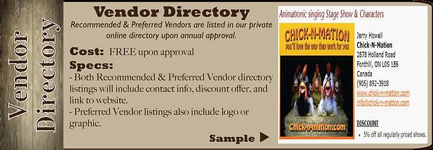 vendor directory sample a la carte