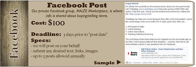 facebook post a la carte