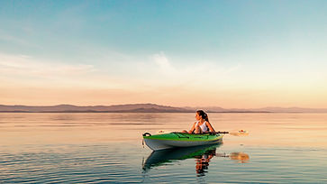We were spending the week in Qualicum, BC and decided one evening to take our kayaks out t