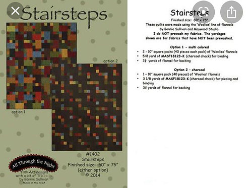 Modèle pour patchwork Stairsteps