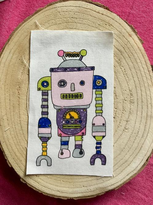 Dessin sur rectangle de lin robot 8