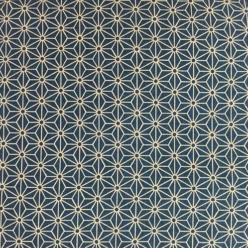 Tissu Coton Bleu Japonnais