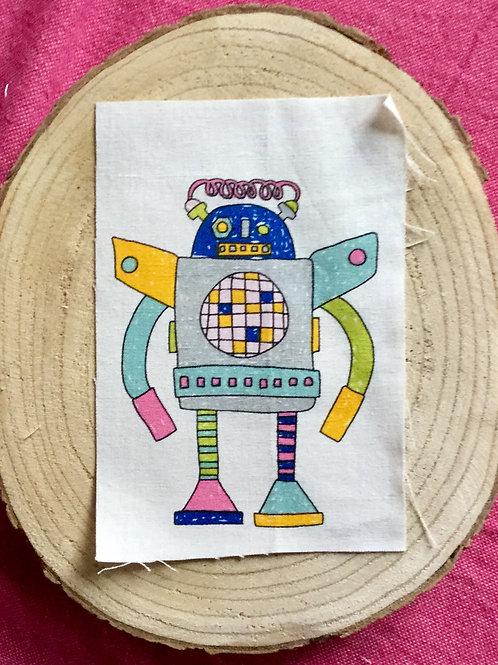 Dessin sur rectangle de lin robot 1