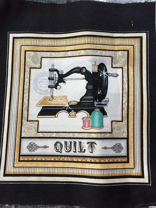 Etiquette Machine Quilt