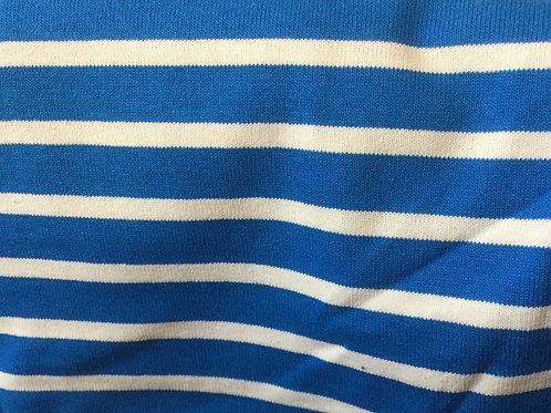 Jersey Marin Bleu et Ecru