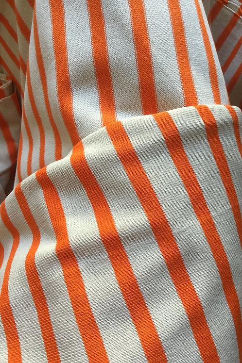 Jersey Marin Ecru et Orange