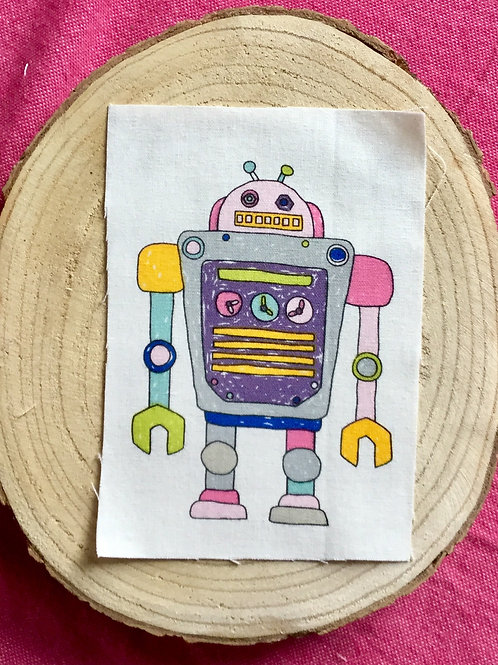 Dessin sur rectangle de lin robot 2