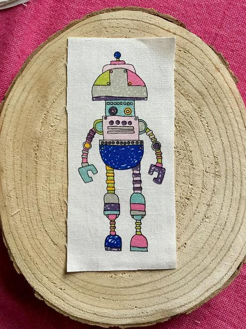 Dessin sur rectangle de lin robot 7