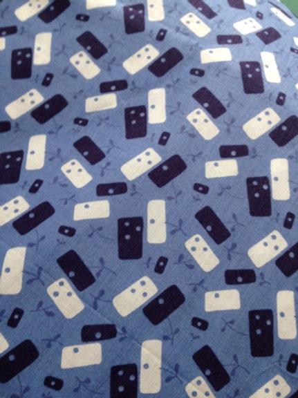 Tissu Liberty Dominos Bleu