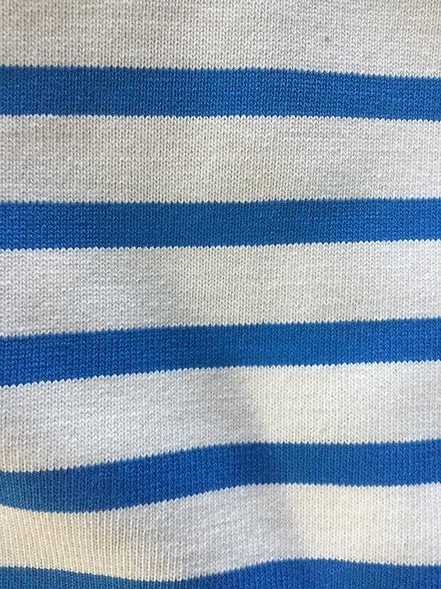 Jersey Marin  Ecru et Bleu