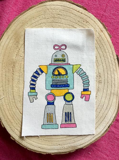 Dessin sur rectangle de lin robot 6