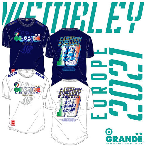 EURO Wembley FINAL 2021 優勝国モデルTシャツ~ Italy . It's coming Rome! ~
