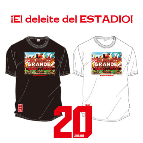 GRANDE 20TH ANNIVERSARY PHOTO T-SHIRTS ¡El deleite del ESTADIO!