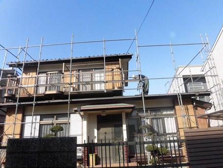 埼玉県さいたま市K様邸 屋根・外壁塗装工事が始まりました。