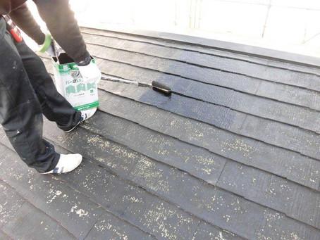 さいたま市K様邸 屋根・外壁塗装工事施工中⑫