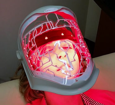 Fine-Light LED Mask - which smoothes out wrinkles and fine lines on the skin, by increasing the levels of collagen and elastin in the dermis.