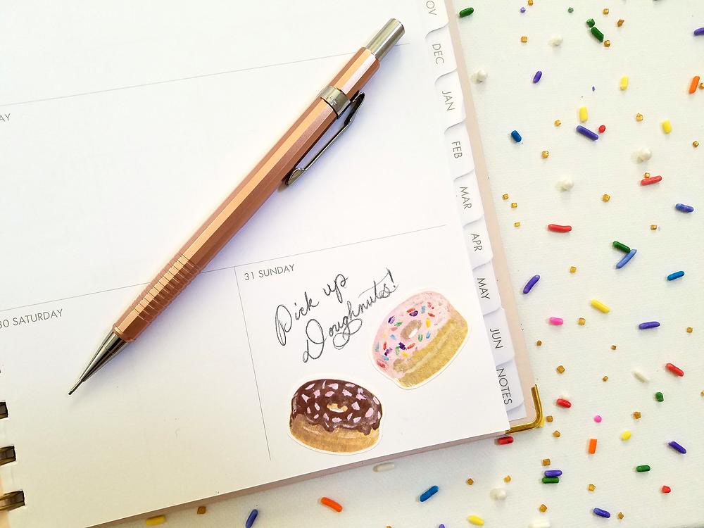 Doughnut Stickers - Grey's Posy