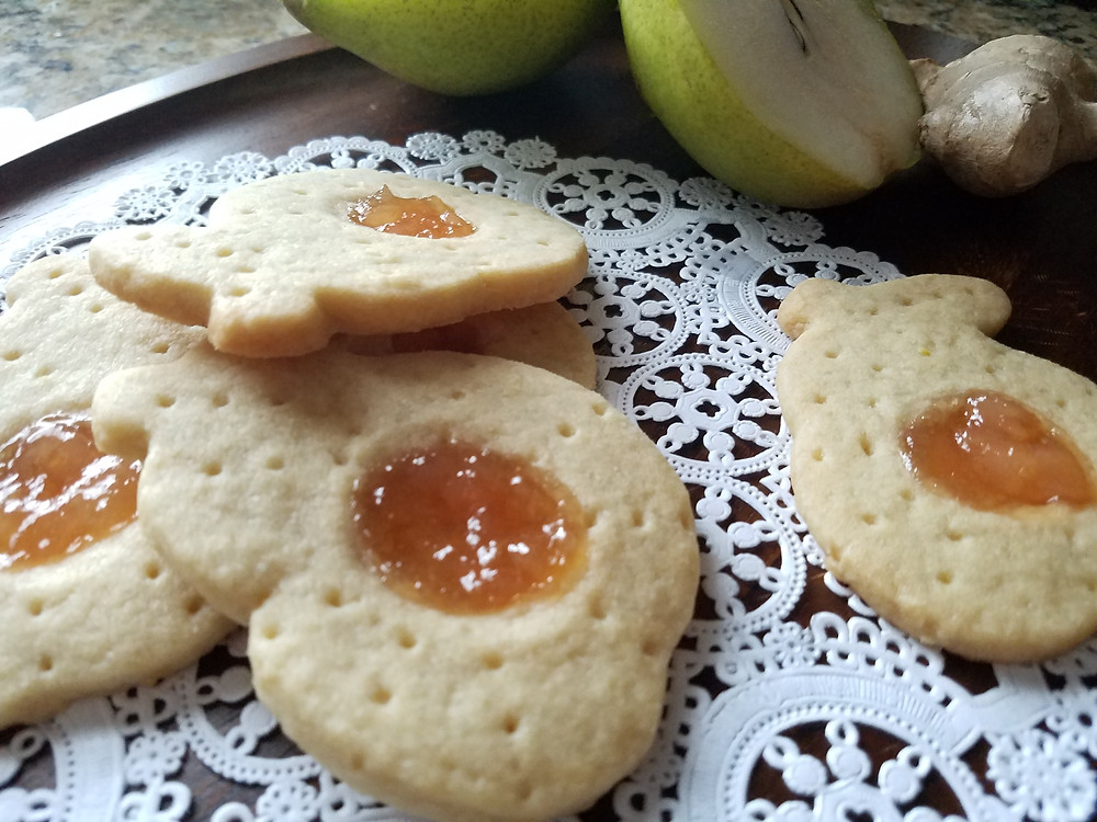 Ginger Pear Shortbread Cookies - Recipe - Grey's Posy