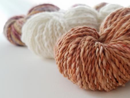 Hand Spun + Hand Dyed Yarn