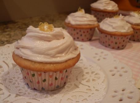 Strawberry Lemon-Thyme Cupcakes