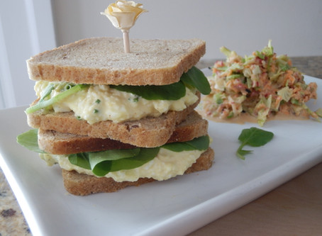 Egg and Cress with Crisp Veggie Slaw