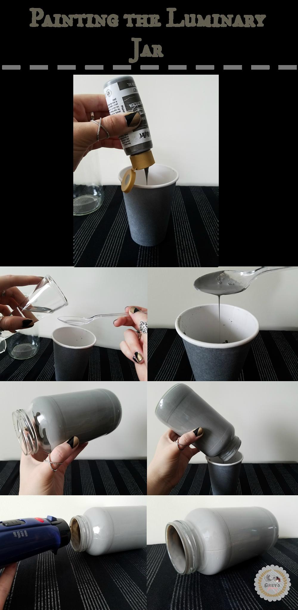 Painting the Luminary Jar - Grey's Posy