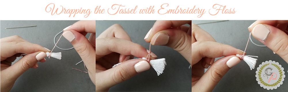 Wrapping the Tassels with Embroidery Floss - Grey's Posy