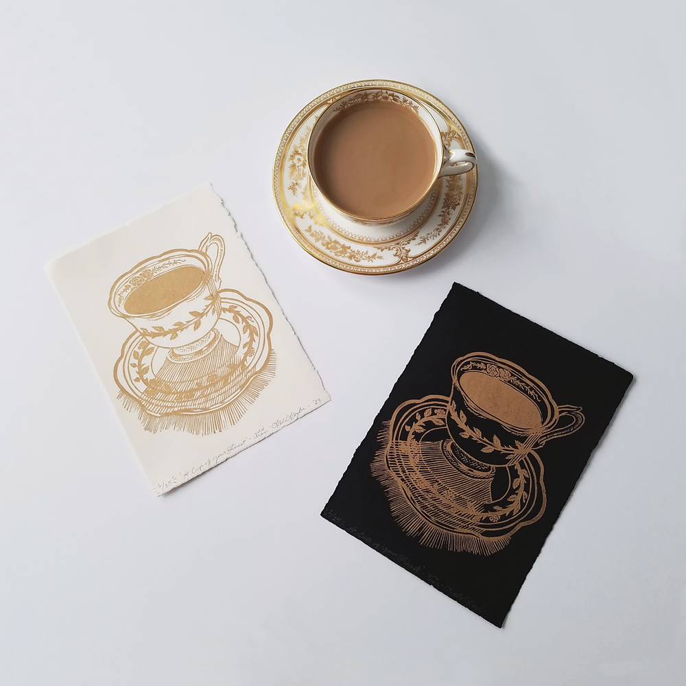 GOLD A Cup of Your Finest Linoleum Prints | Grey's Posy