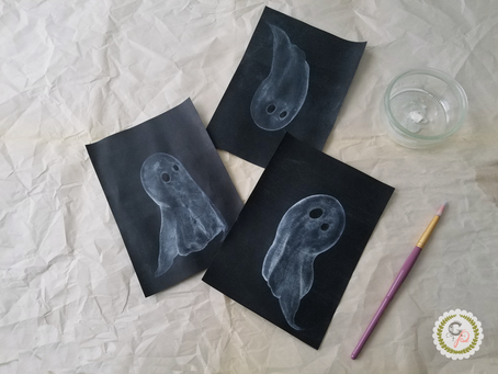 Spooky Ghosts Watercolor Tutorial + Video
