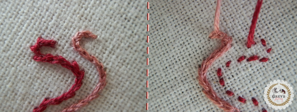 Split Backstitch vs. Split Stitch