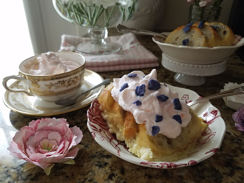 Roses are Red, Violets are Blue - Bread and Butter Pudding - Recipe - Grey's Posy