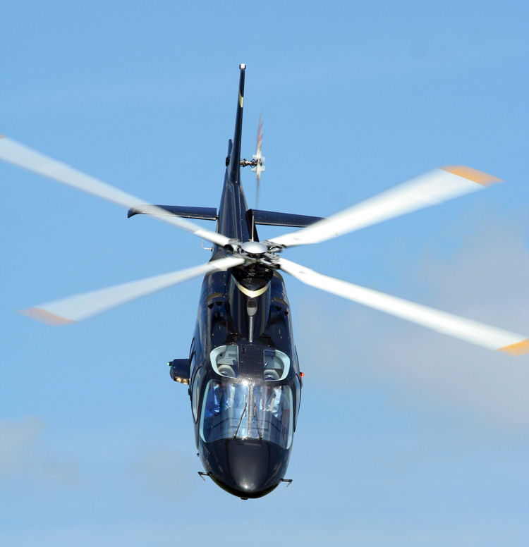 Agusta 109 accelerating