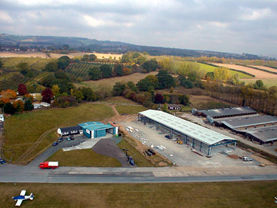 Aerial view of the Hangar