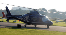 Agusta 109 on IFR training flight
