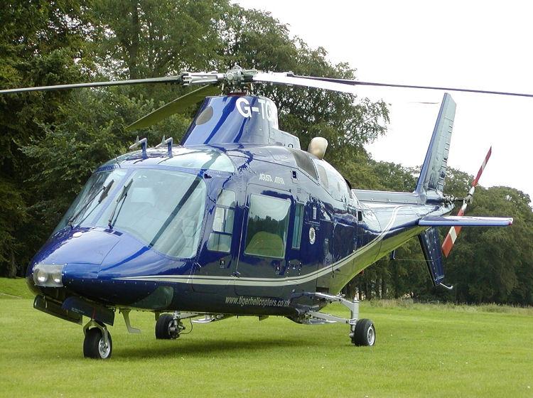 A109 on hotel lawn!