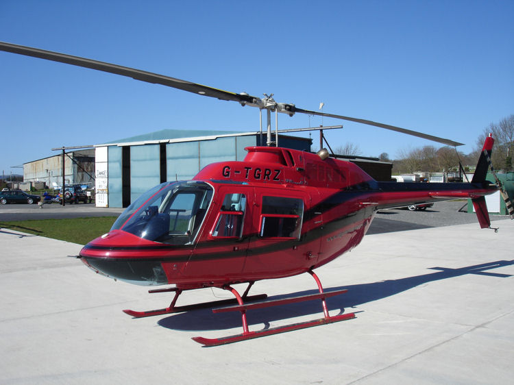 Bell 206 on the pad